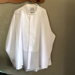 NWOT White Lord West 3XL Broadcloth Formal Shirt